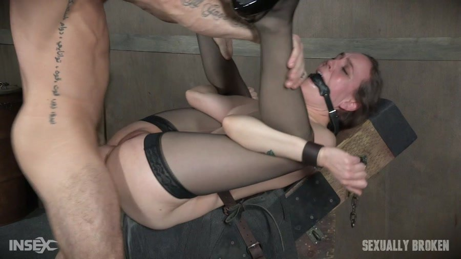 Sierra Cirque - Sierra Cirque in her fancy stockings and sexy heels is bound and brutally fucked until Squirting! (BDSM / Rough Sex) [HD 720p] - SexuallyBroken.com
