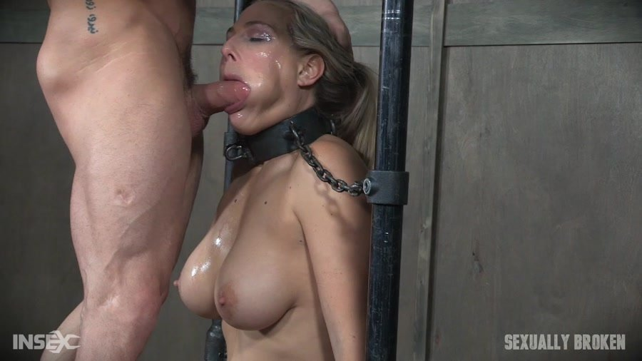 Angel Allwood - Angel Allwood is neck bound on a Sybian and throat fucked while violently cumming over and over! (BDSM / Rough Sex) [HD 720p] - SexuallyBroken.com