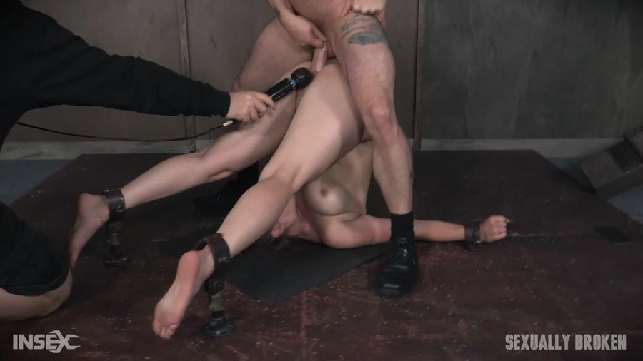 Bella Rossi - Bella Rossi is brutally fucked while bound in a extreme pile driver, huge cock massive orgasms! (BDSM / Rough Sex) [HD 720p] - SexuallyBroken.com