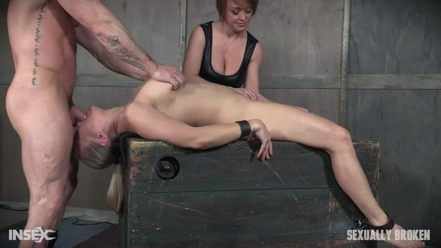 ANGEL ALLWOOD - Part 1 Angel Allwood is neck bound on a Sybian and throat fucked while violently cumming over and over! (BDSM / Extreme Rough Sex) [HD 720p] - SexuallyBroken.com