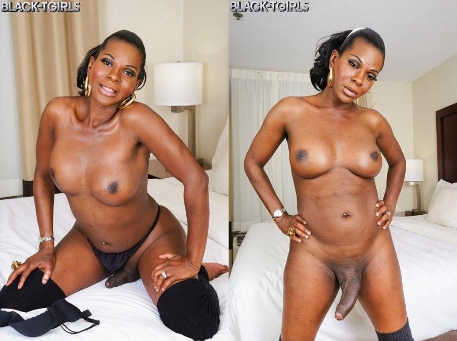 Cinnamon Capri - Amber Strokes And Cums (Black Shemale / Solo) [HD 720p] - Black-TGirls.com