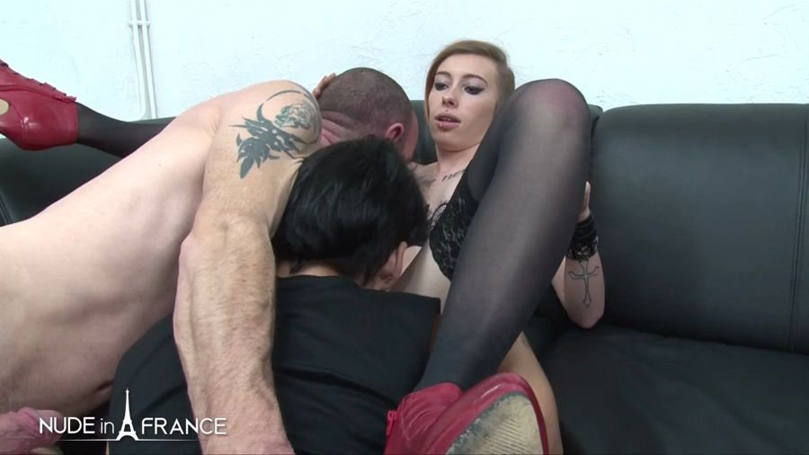 Sarah Weedx, Ellenna Corellia, Amelie Pucycat - Three Hotties Gets Hard Bange (France / Amateur) [HD 720p] - NudeInFrance.com