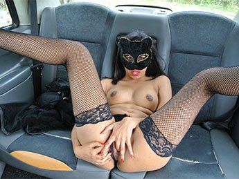 Masked Maya - Role play pussy cat fantasy fuck (Creampie / All Sex) [SD] - FakeTaxi.com
