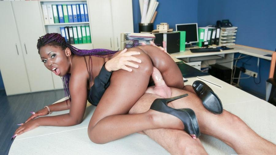 Sunny Star - German older boss fucks his ebony secretary in office sex fantasy (All Sex / IR) [FullHD 1080p] - PornDoePremium.com