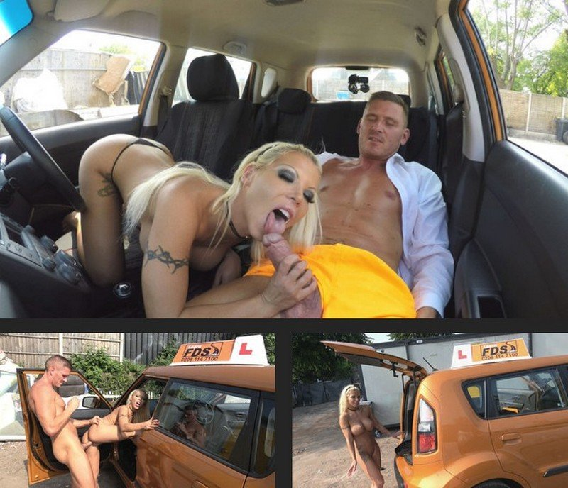Barbie Sins - Barbie earns her pass with a facial (Blonde / Big Tits) [SD] - FakeDrivingSchool.com