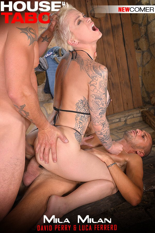 Mila Milan - Kinky Backdoor Drillers (Anal / Threesome) [SD] - HouseOfTaboo.com