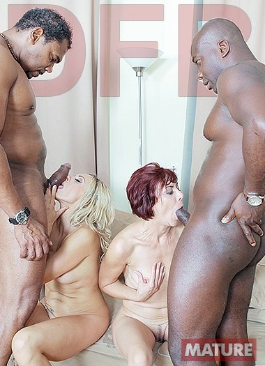 Brittany, Lara Red - Two hot matures fuck black guys (Anal / Interracial) [SD] - DFBnetwork.com