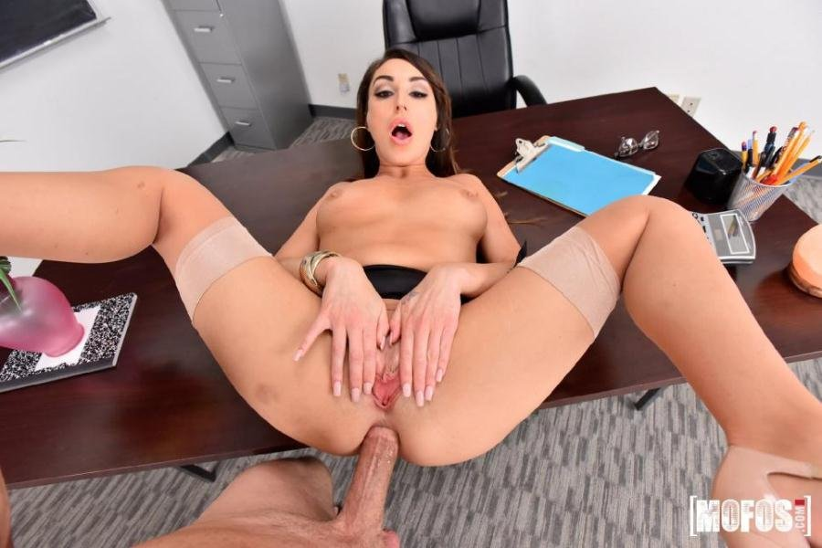 Christiana Cinn - Anal Lesson From Tutor in Stockings (Anal / All Sex) [SD] - Mofos.com