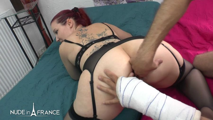 Young Couple Amateur Red Head