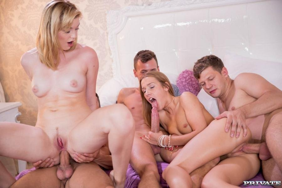 Alexis Crystal, Anny Aurora - Anny Aurora and Alexis Crystal Celebrate With an Orgy (Orgy / Anal) [SD] - AnalIntroductions.com