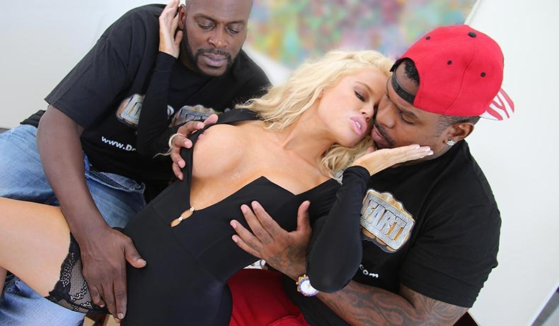 Nikki Delano - Blonde Big Tits (IR / 3some) [SD] - BlacksOnBlondes.com