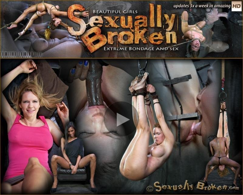 Rain DeGrey, Natassia Dreams - Good cop, Bad cop Rains down hard on The DeGrey, Extreme S&M update with Throat fucking! [HD] - SexuallyBroken.com