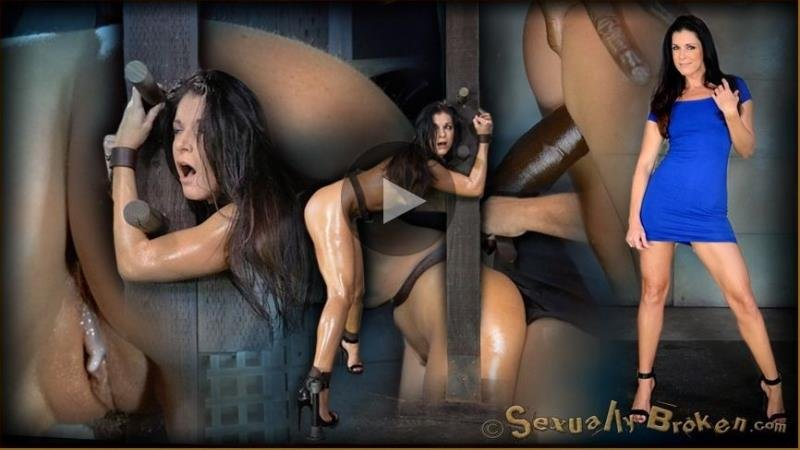 India Summer, Matt Williams, Jack Hammer - Stunning MILF India Summer belted down to a post and bred, 10 inch BBC and creampies! [HD] - SexuallyBroken.com