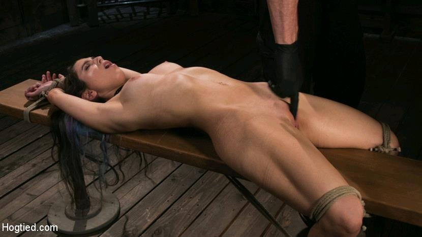 Serena Blair - Girl Next Door Serena Blair Restrained and Made to Cum in Rope Bondage [HD] - HogTied.com