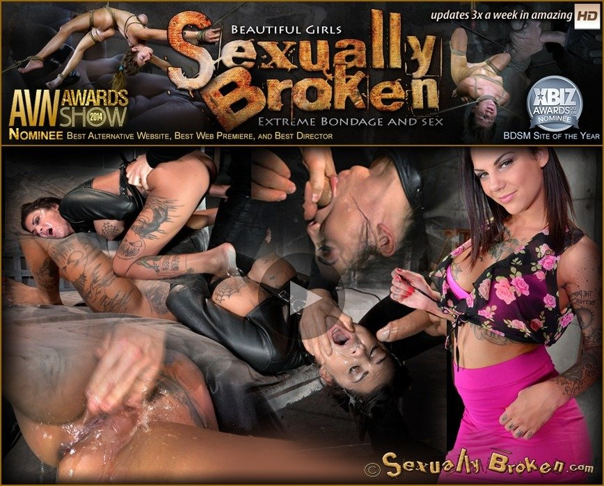 Bonnie Rotten - AVN winner Bonnie Rotten bound in a straightjacket and roughly fucked hard, epic deepthroat! () [HD 720p] - SexuallyBroken.com