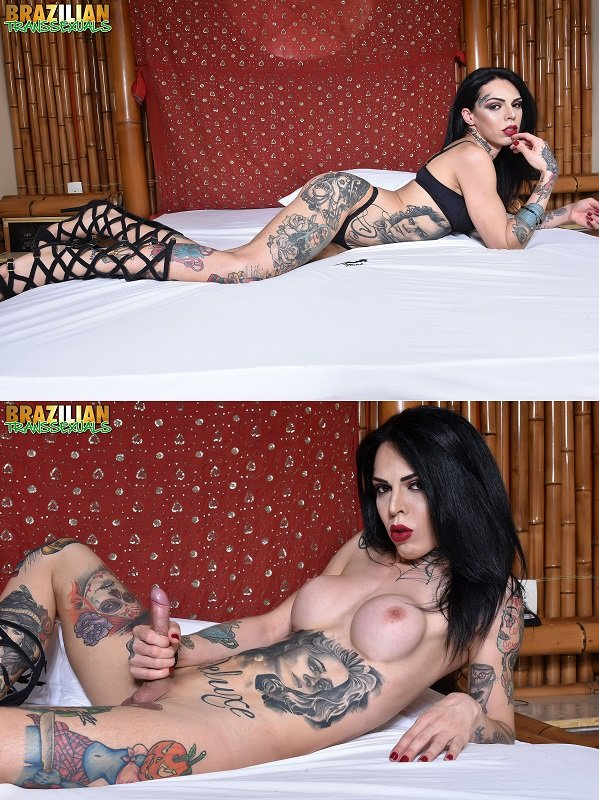 ]Gaby Ink - TS Gaby Ink (Shemale, Solo) [FullHD 1080p] - Brazilian-transsexuals.com