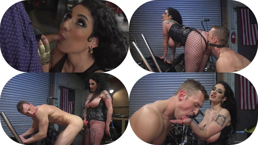 Arabelle Raphael - Angelic Little Nerd Meets His Devilish Destiny (Femdom, Strap-on) [SD] - Kink.com
