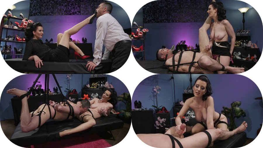 Cherry Torn - Cherry Torn's Tea Service and Slave Punishment () [SD] - Kink.com