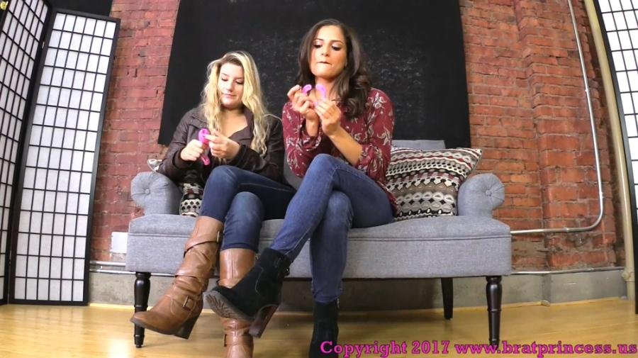 ChiChi, Chloe - You Need To Be Locked In Chastity Before You Worship Our Feet (Humiliation, Foot Worship) [FullHD 1080p] - BratPrincess