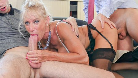 Marina Beaulieu - Busty French mature Marina Beaulieu enjoys anal sex with DP in threesome (MILF, Squirting) [FullHD 1080p] - PornoAcademie.com