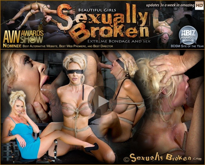 Courtney Taylor, Matt Williams - Big titted blonde Courtney Taylor bound blindfolded and facefucked, epic drooling deepthroating! (BDSM) [SD] - SexuallyBroken.com