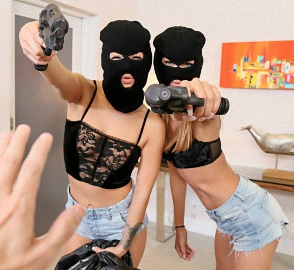 Charity Crawford, Evelin Stone - Prank Whores Sexy Robbery (Blowjob) [HD] - ShareMyBF.com/Mofos.com