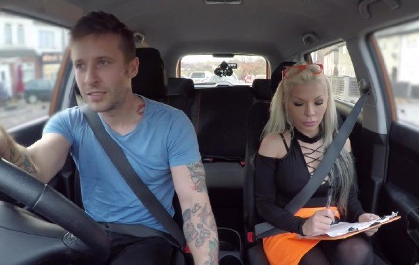 Barbie Sins - Barbie cant resist tattooed guys charm (Blonde) [HD] - FakeDrivingSchool.com