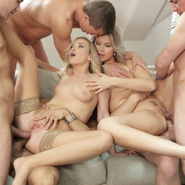 Vinna Reed, Nikki Dream - Vinna Reed And Nikki Dream Take On Five Guys Together For A Group Sex Fuck (Group) [SD] - BangGlamkore.com/Bang.com