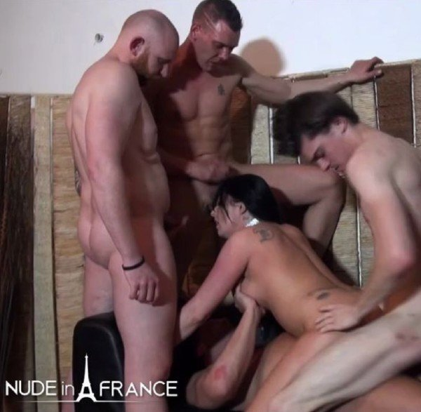 Savannah - Busty 30 yo slut from Belgium double penetrated in a Gang Bang () [HD] - NudeInFrance.com