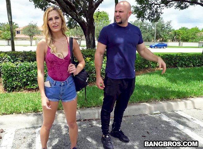 Aspen Celeste - Doing Yoga on The Bus (Blonde) [SD] - BangBus