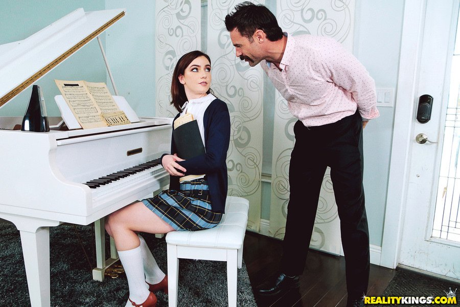 Maddie Winters - My Piano Teacher Is A Pervert (Blowjob) [SD] - Pure18.com / RealityKings.com