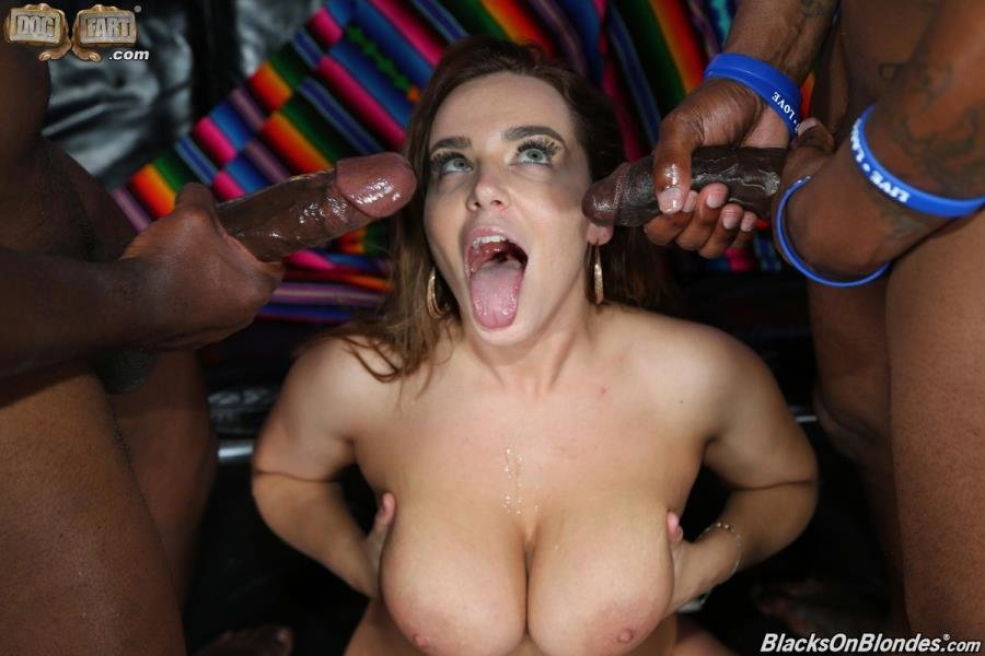 Natasha Nice - And 2 Big Black Cock (Brunette) [SD] - BlacksOnBlondes