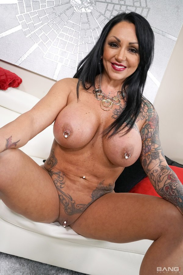 Ashton Blake - Ashton Blake Is A Tattooed Bad Girl With A Matching Pierced Clit And Nipple (Brunette) [SD] - Bang.com