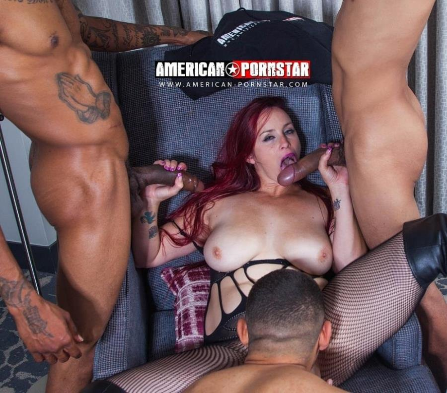 Bella Rossi - Bella Rossi Takes 4 BIG DICKS Part 2 (Gangbang) [SD] - American-Pornstar.com