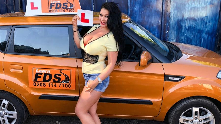 Anissa Jolie - Big boobed Hungarian creampied (Blowjob) [SD] - FakeDrivingSchool.com
