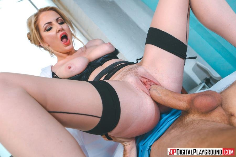 Georgie Lyall - Mouth To Dick Resuscitation (Blonde) [SD] - DigitalPlayground.com