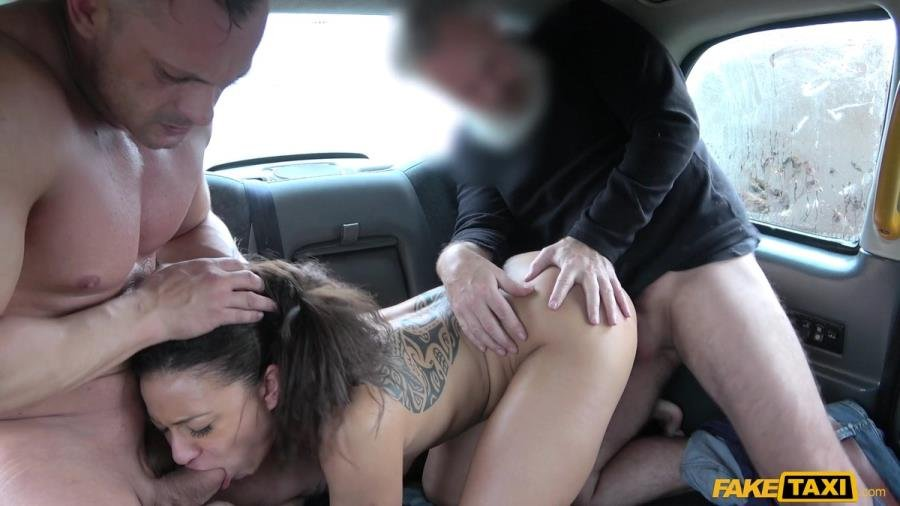 Cassie Del Isla - Hot Wife Sharing Taxi Threesome (Brunette) [SD] - FakeTaxi.com