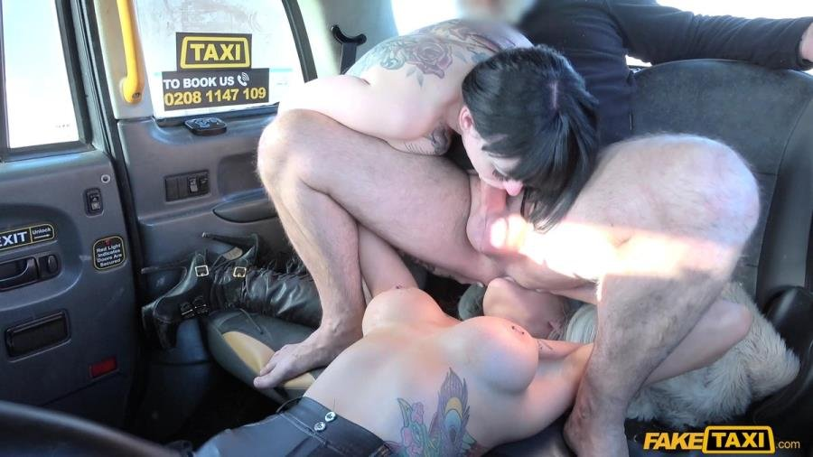 Alexxa Vice, Sexy Cleo - Taxi Threesome With Great Rimming (Blowjob) [SD] - FakeTaxi.com / FakeHub.com