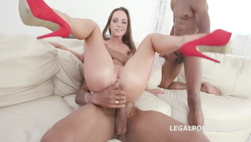 Kristy Black - Blackened with Kristy Black Double Session, Balls Deep anal, DAP, Big Gapes, Swallow, 4 Facials GIO727 (Gangbang) [SD] - LegalPorno