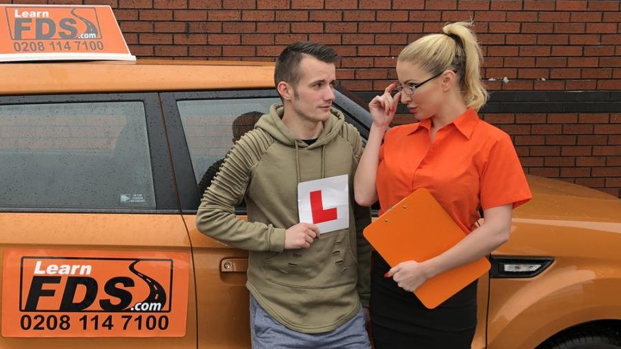 Georgie Lyall - Exam failure leads to hot car sex (Blonde) [SD] - FakeDrivingSchool.com