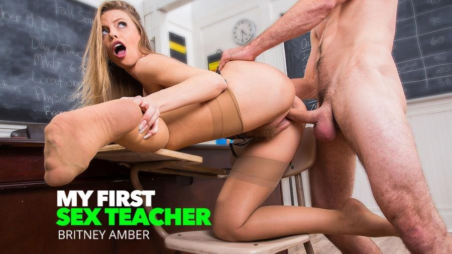 Britney Amber - Professor Amber Takes Her Students Big Cock (Students) [SD] - MyFirstSexTeacher.com / NaughtyAmerica.com