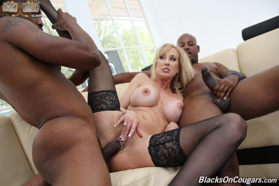 Brandi Love - And Big Black Cock 2 on 1 (Mature) [SD] - BlacksOnCougars.com