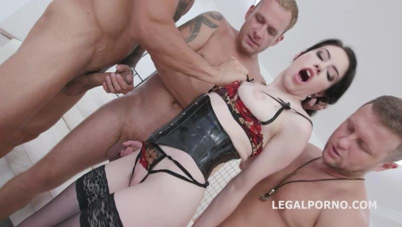 Anna de Ville - Manhandle Anna de Ville goes Rough with Balls Deep Anal, Big Gapes, DAP, Gapefarts, Swallow GIO1150 (Gangbang) [SD] - Legal