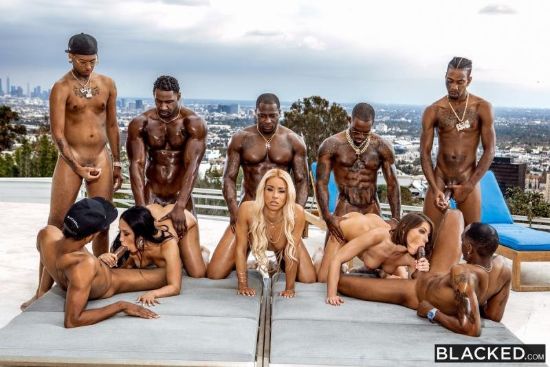 Adriana Chechik, Vicki Chase, Teanna Trump - BadBitches (Gangbang) [SD] - Blacked.com