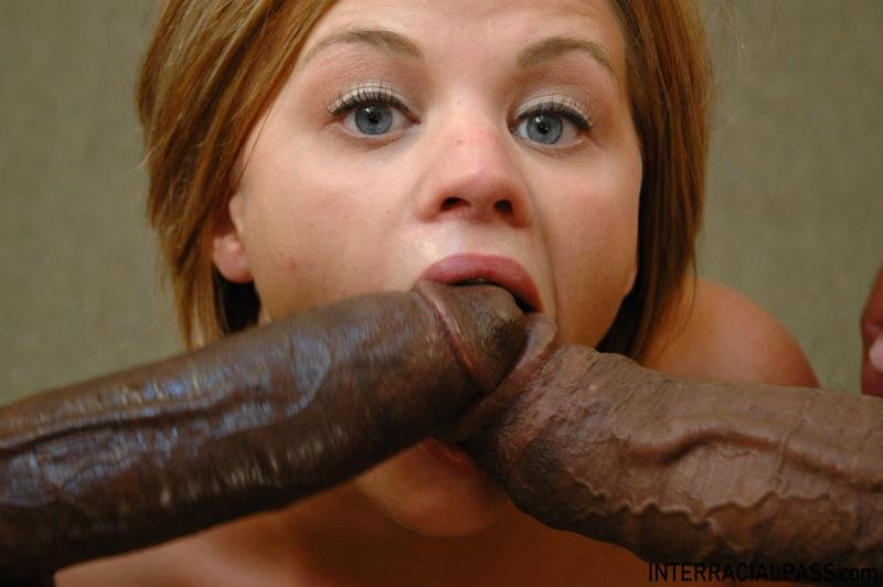 Nikki - Takes 2 Massive Black Cocks At Once (Hardcore) [SD] - Interracialpass.com