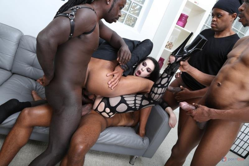 Anna de Ville - Goth Anna de Ville 5on1 First Interracial TAP, wth Balls Deep Anal, Gapes, Manhandle, Big Gapes and Swallow GIO1585 (Gangbang) [SD] - LegalPorno.com