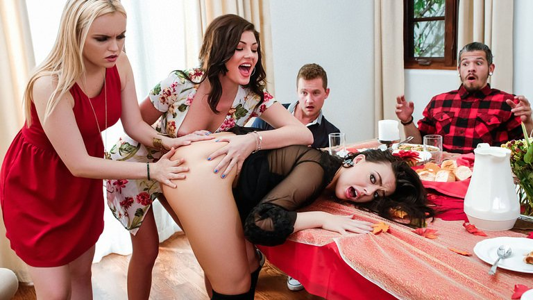 Whitney Wright, River Fox, Jessica Rex - Thanksgiving Dinner Sluts (Teen, Young) [SD] - SneakySex.com / RealityKings.com