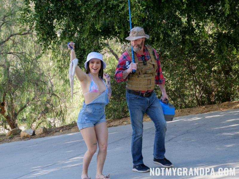 Mia Moore - Stepgrandpa Teaches Me To Fish (Teen, Young) [SD] - NotMyGrandpa.com