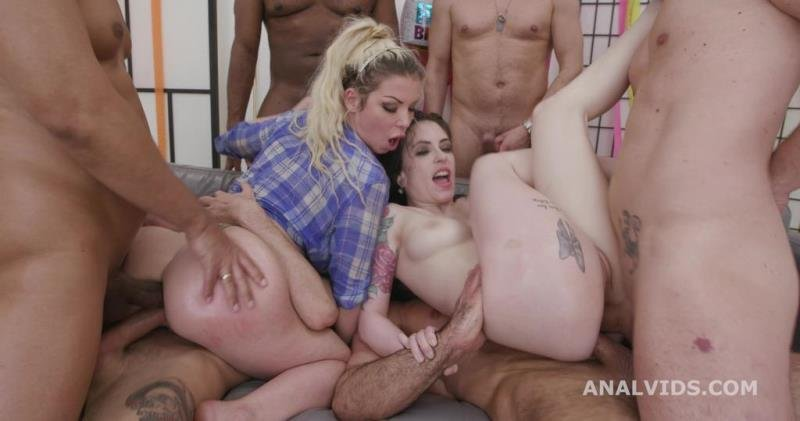 Anna de Ville, Barbie Sins - Happy Wet B-day #2, Anna de Ville and Barbie Sins Vs 13 boys, DAP, ButtRose, Pee Drink, a Fucking Cake and Swallow GIO1832 (Blowjob) [SD] - LegalPorno.com